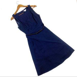 ☕️5/$25 H&M Blue Polka Dot Size 10 A Line Dress